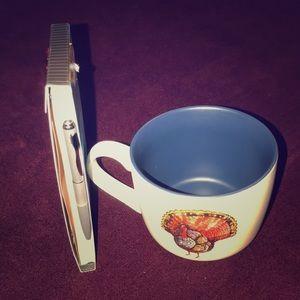 Porcelain Mug and small note pad